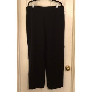 CATO Wide Leg Ponte Black Classic Pants, Sz 18/20W